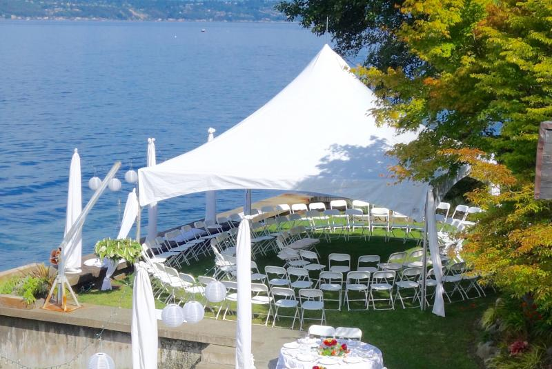 Beautiful waterfront wedding location